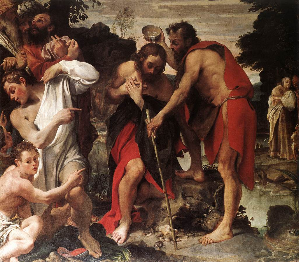 The Baptism Of Christ 1584 | Annibale Carracci | Oil Painting