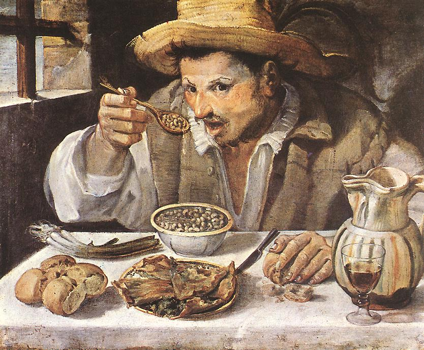 The Beaneater 1580-90   Annibale Carracci   Oil Painting