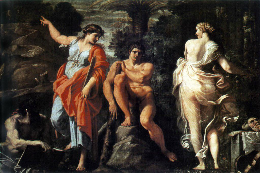 The Choice Of Heracles 1596 | Annibale Carracci | Oil Painting