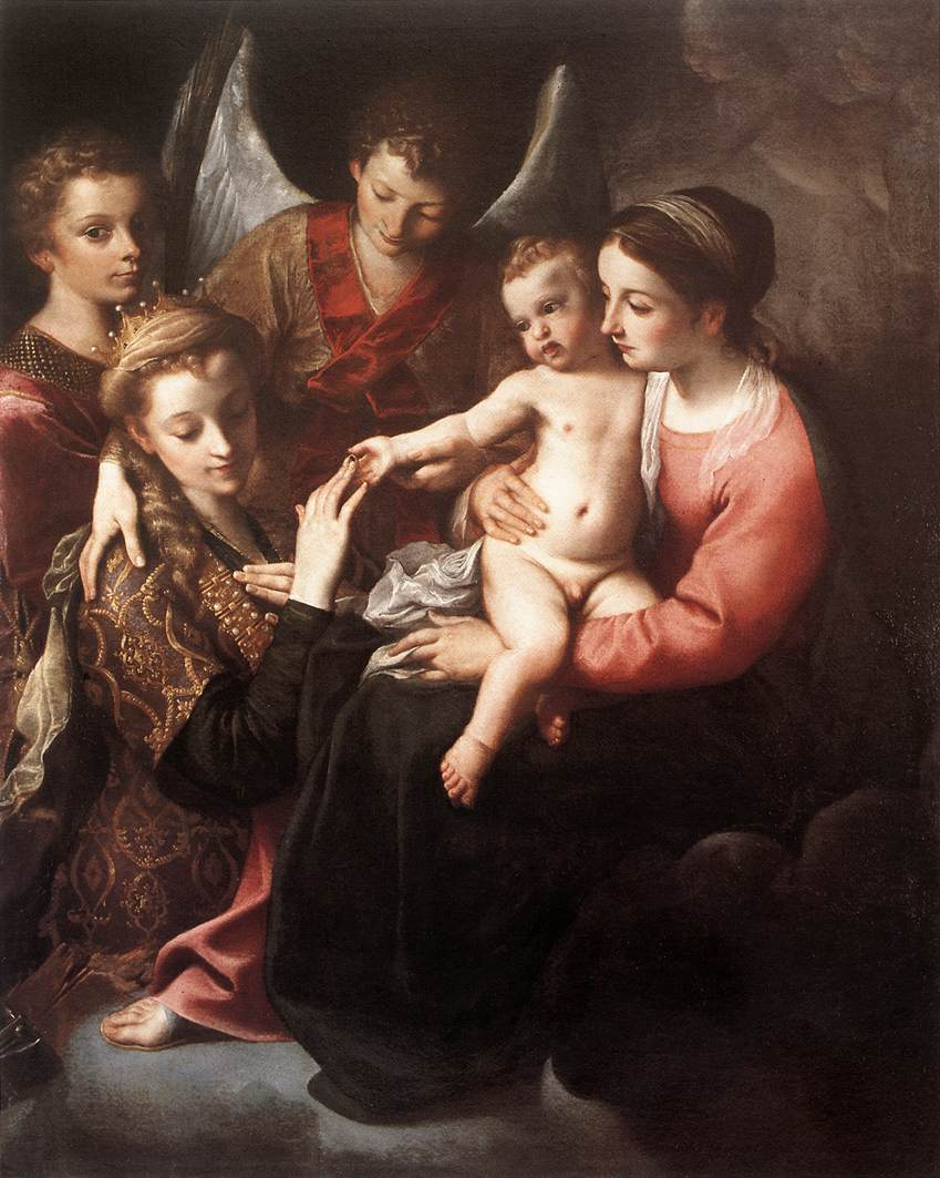 The Mystic Marriage Of St Catherine 1585-87 | Annibale Carracci | Oil Painting