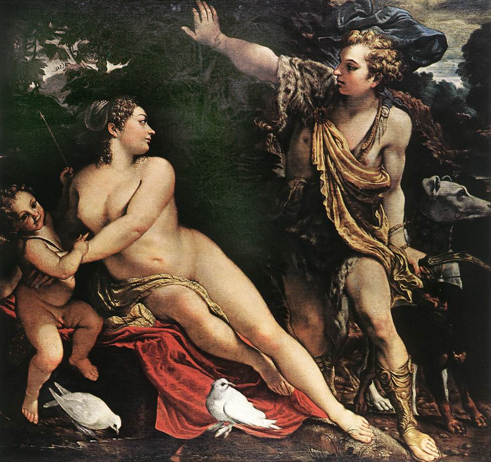 Venus And Adonis 1595 | Annibale Carracci | Oil Painting