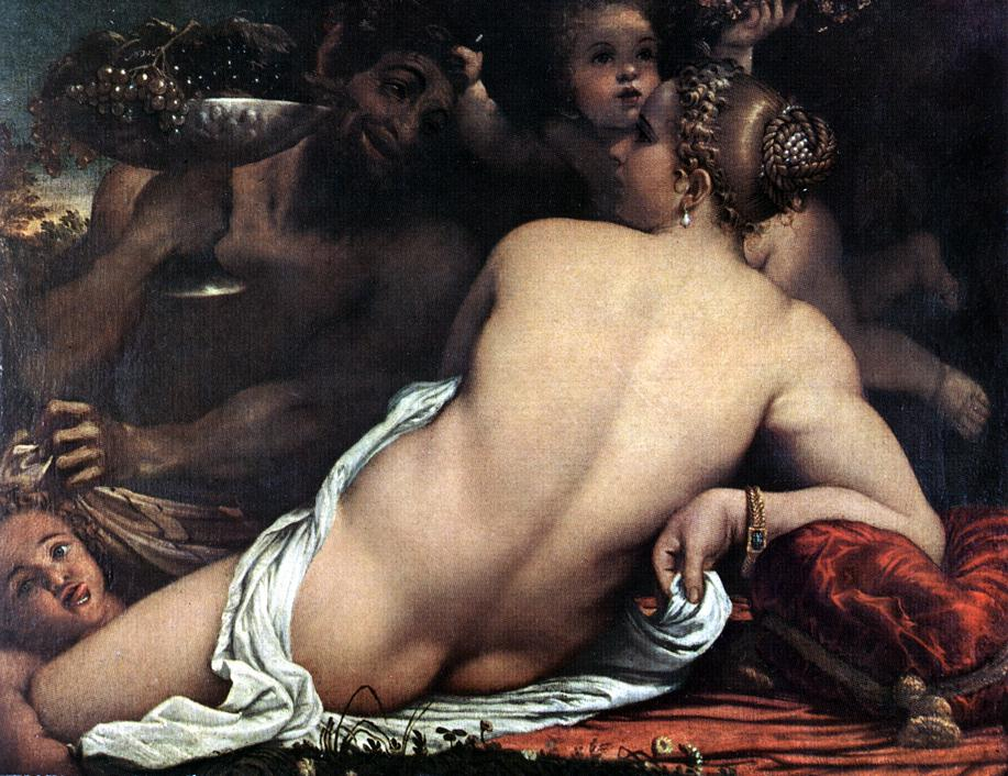Venus With A Satyr And Cupids 1588 | Annibale Carracci | Oil Painting