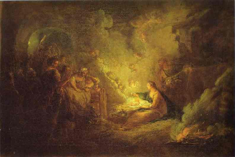 Birth Of Christ 1745 | Antoine Pesne | Oil Painting
