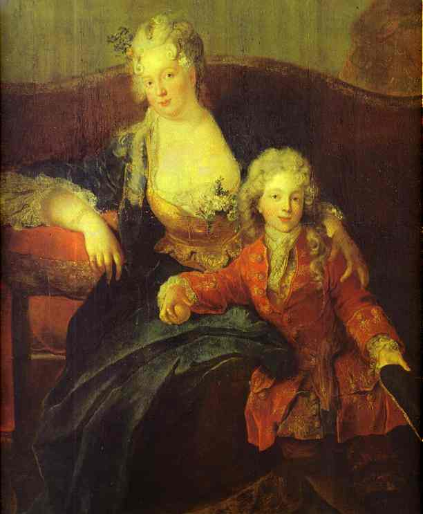 Portrait Of Baron Von Erlach With His Family Detail 1711 | Antoine Pesne | Oil Painting