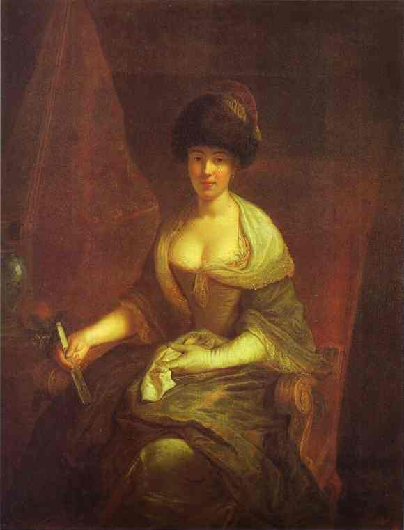 Portrait Of Maria Susanna Dinglinger 1721   Antoine Pesne   Oil Painting