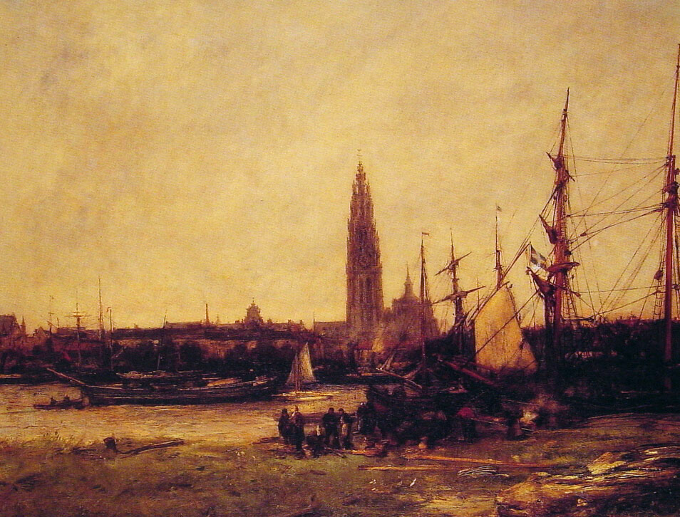 View of Antwerp | Antoine Vollon | Oil Painting