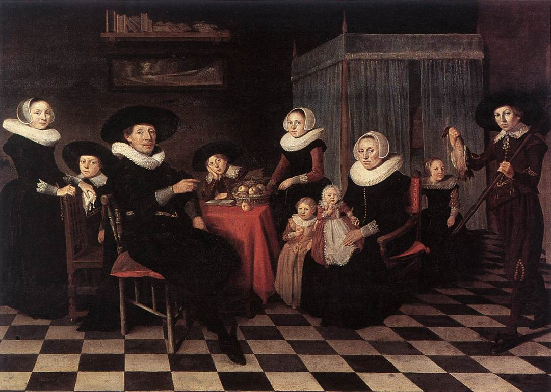 Family Portrait 1635 | Antonie Palamedesz | Oil Painting