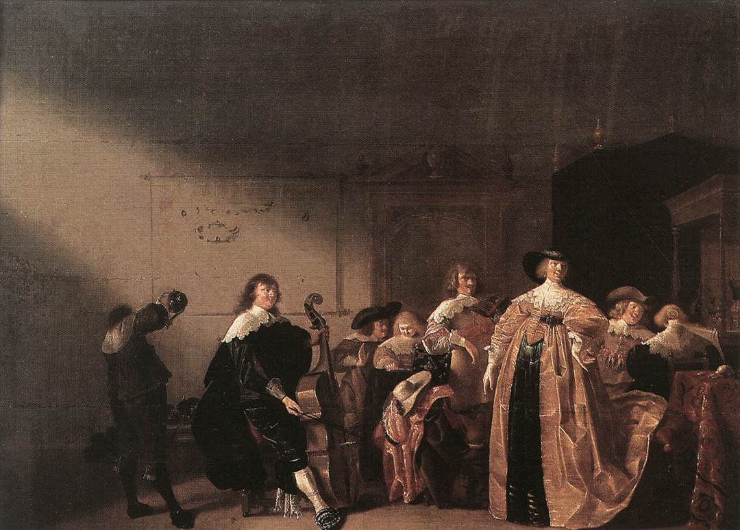 Party Scene with Music 1635-40 | Antonie Palamedesz | Oil Painting