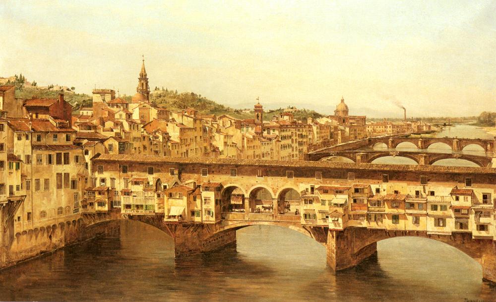 View Of The Ponte Vecchio Florence | Antonietta Brandeis | Oil Painting