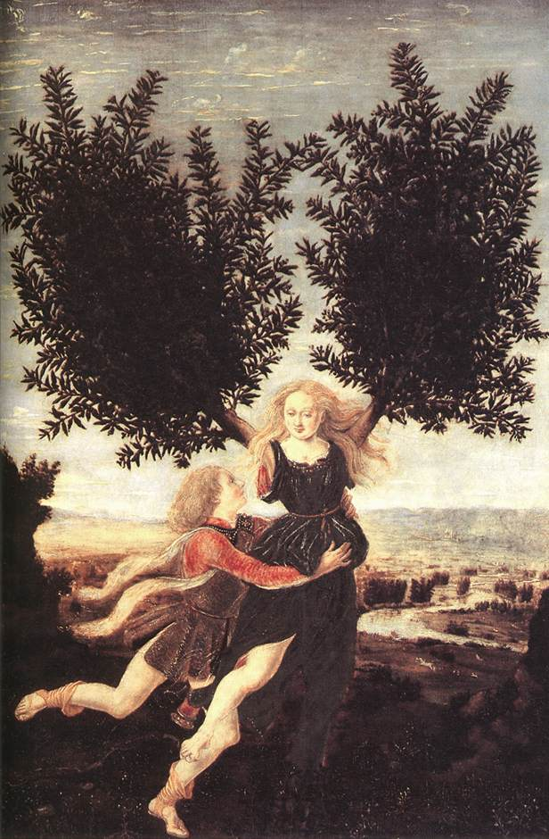 Apollo And Daphne | Antonio Del Pollaiolo | Oil Painting