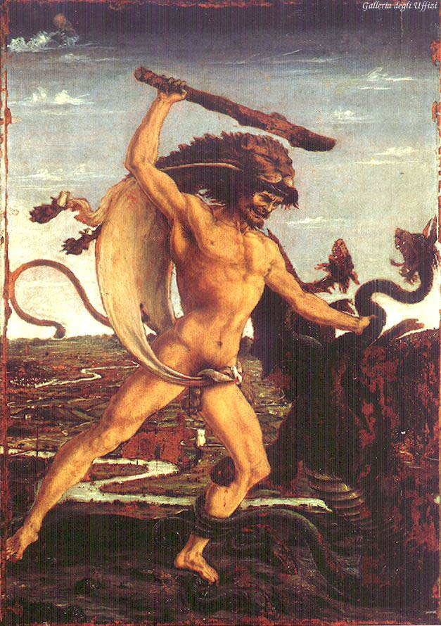 Hercules And The Hydra 1475 | Antonio Del Pollaiolo | Oil Painting