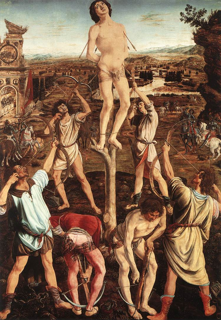 Martyrdom Of St Sebastian 1473-75 | Antonio Del Pollaiolo | Oil Painting