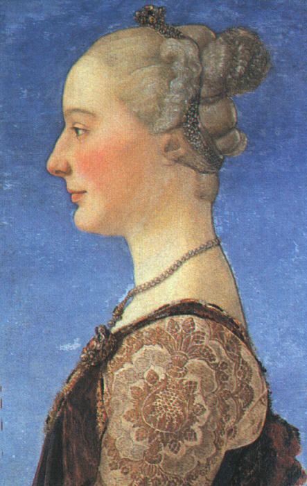 Portrait Of A Young Woman 1475   Antonio Del Pollaiolo   Oil Painting