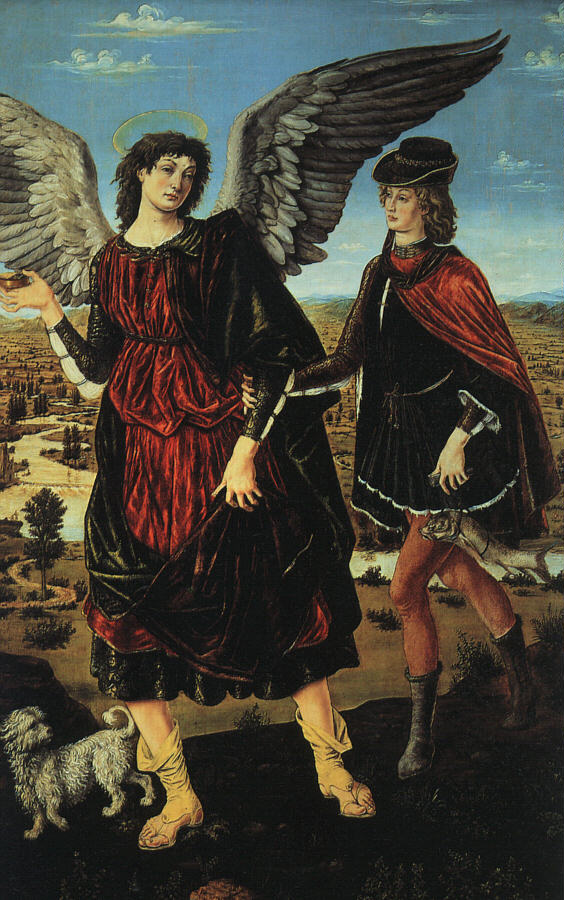 Tobias And The Angel 1460 | Antonio Del Pollaiolo | Oil Painting