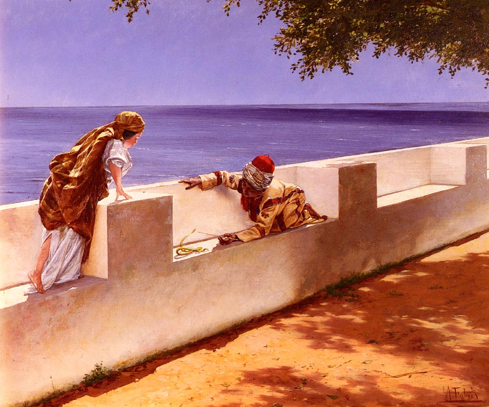 The Young Snake Charmer | Antonio Fabres y Costa | Oil Painting