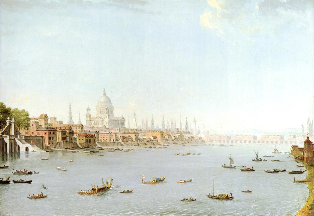 The Thames Looking Towards The City | Antonio Joli | Oil Painting