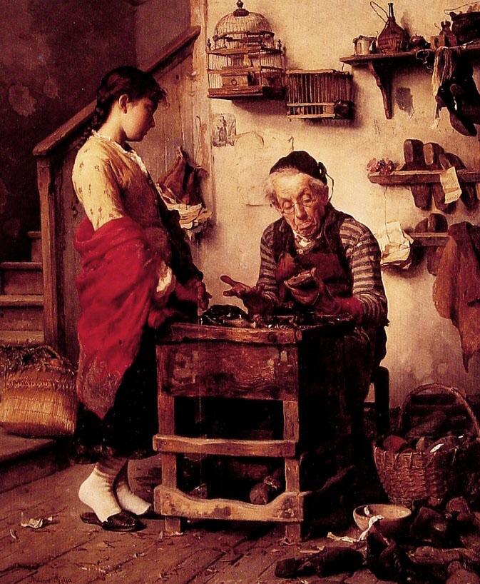 The Cobbler | Antonio Rotta | Oil Painting