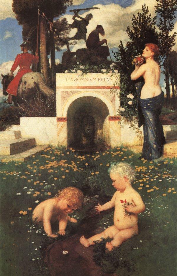 Bocklinvita Somnium Breve 1888 | Arnold Bocklin | Oil Painting