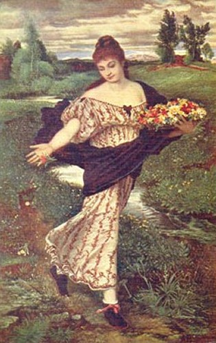 Flora Spreading Flowers | Arnold Bocklin | Oil Painting