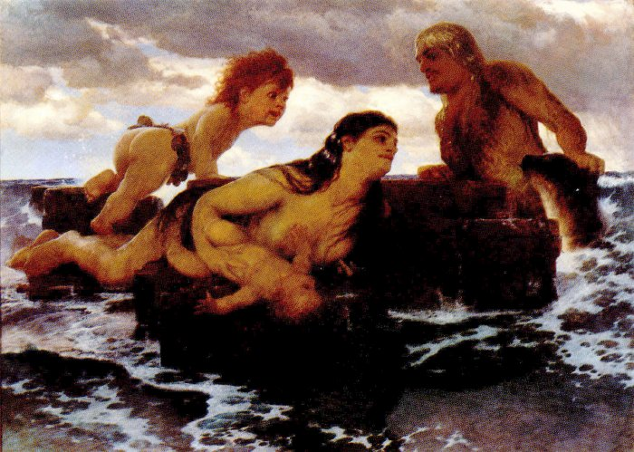 Sea Idyll | Arnold Bocklin | Oil Painting