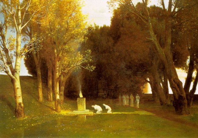The Sacred Wood | Arnold Bocklin | Oil Painting