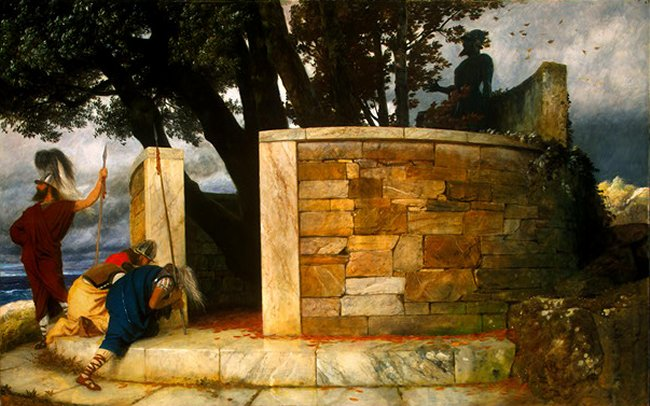 The Sanctuary Of Hercules 1884 | Arnold Bocklin | Oil Painting