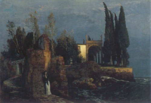 Villa By The Sea | Arnold Bocklin | Oil Painting