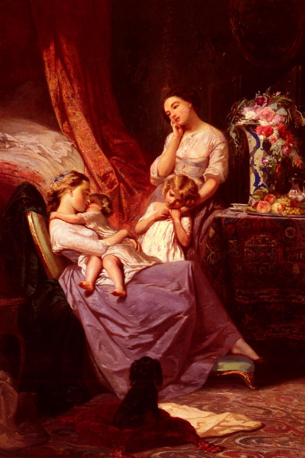 Johannot Tony Motherly Love | Arnoldus Bloemers | Oil Painting
