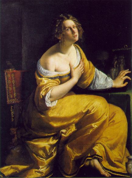 Mary Magdalen 1613-20   Artemisi Gentiles   Oil Painting