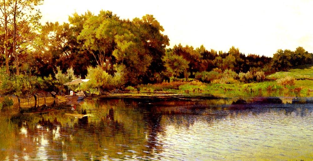 Bord Du Lac | Arthur Calame | Oil Painting