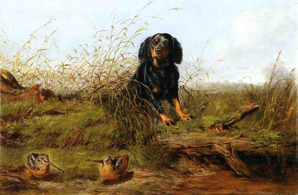 Cocker Spaniel and Woodcock 1865 | Arthur Fitzwilliam Tait | Oil Painting