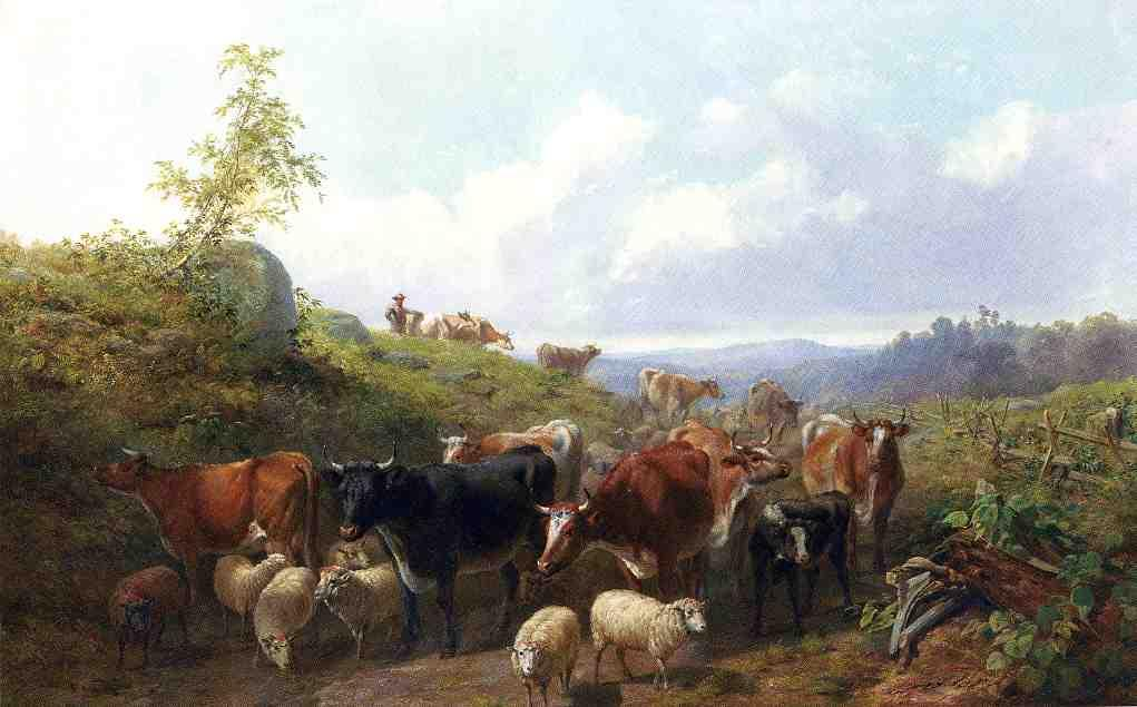 Down the road in Franklin County New York 1858 | Arthur Fitzwilliam Tait | Oil Painting