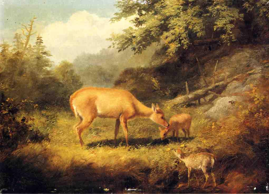 Maternal Affection 1859 | Arthur Fitzwilliam Tait | Oil Painting