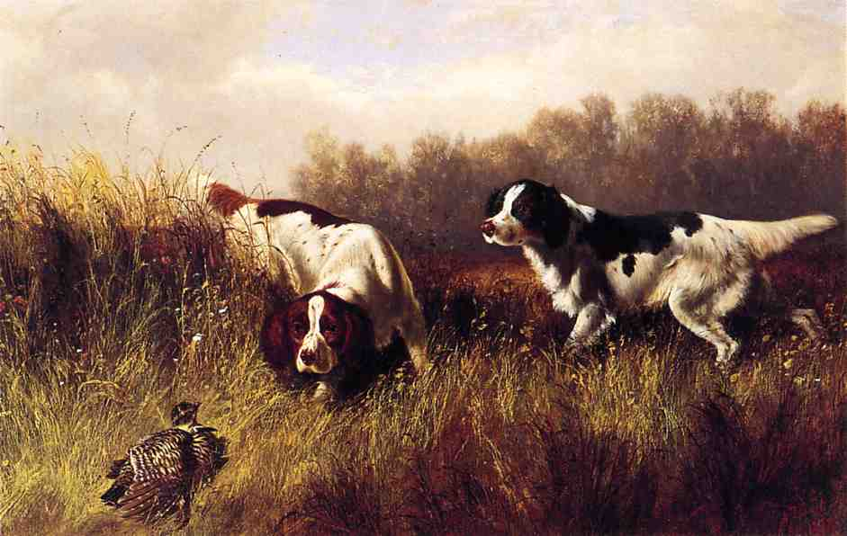 Prarie Shooting Find Him 1878 | Arthur Fitzwilliam Tait | Oil Painting