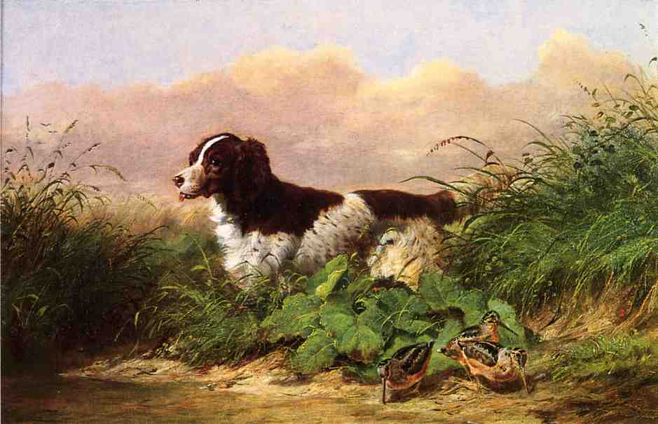 Setter and Woodcock 1865 | Arthur Fitzwilliam Tait | Oil Painting