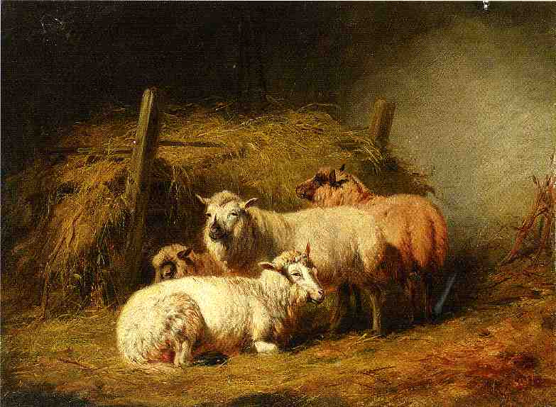 Sheep in Shed 1866 | Arthur Fitzwilliam Tait | Oil Painting