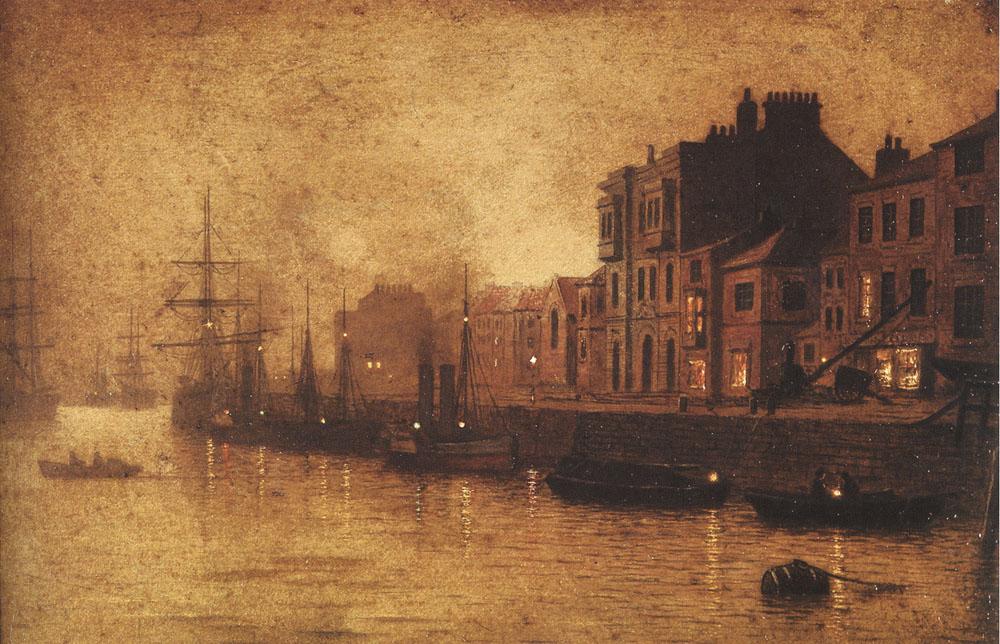 Evening Whitby Harbour | Arthur Grimshaw | Oil Painting