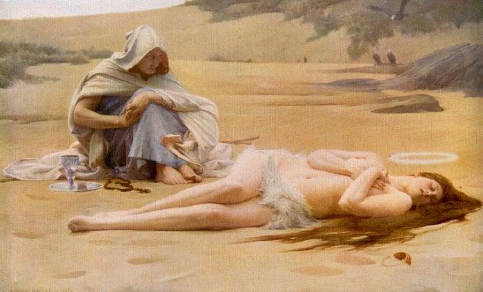 Pelagia And The Philammon 1887 | Arthur Hacker | Oil Painting