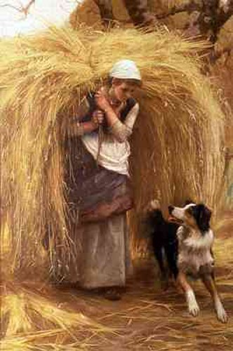 Returning From The Hayfield | Arthur Hacker | Oil Painting