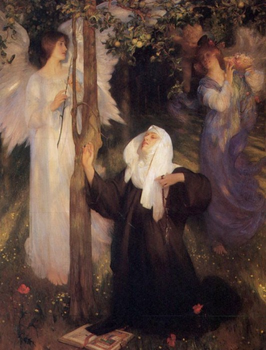 The Cloister Or The World 1896 | Arthur Hacker | Oil Painting