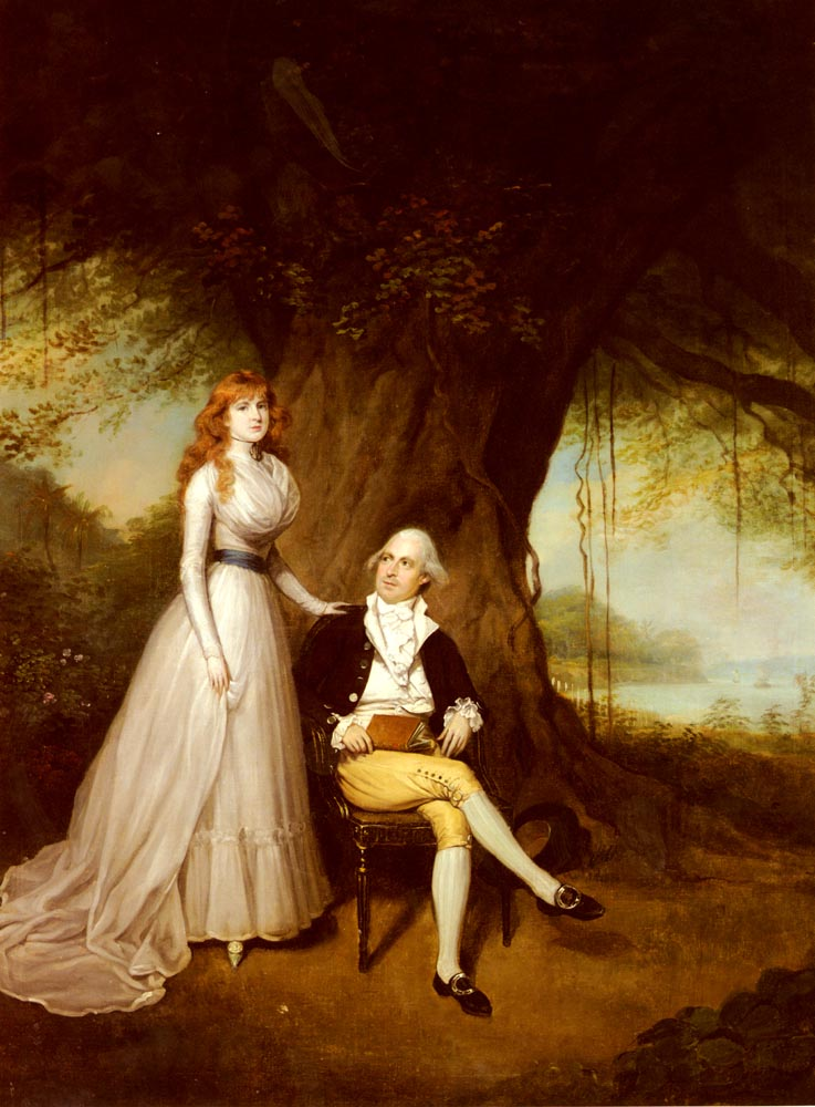 Portrait Of Robert Grant And His Wife | Arthur William Devis | Oil Painting