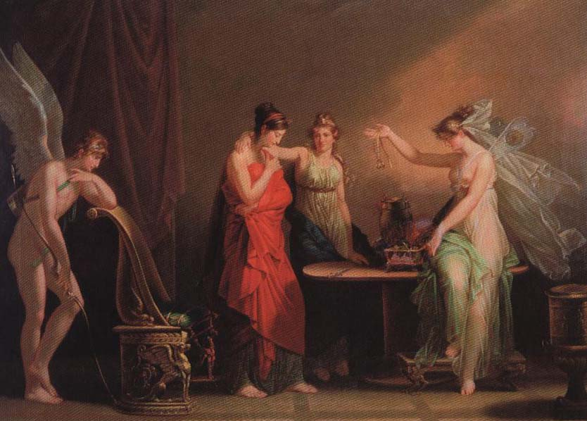 The Legend of Cupid and Psyche | Angelica Kauffmann 1800 | Oil Painting