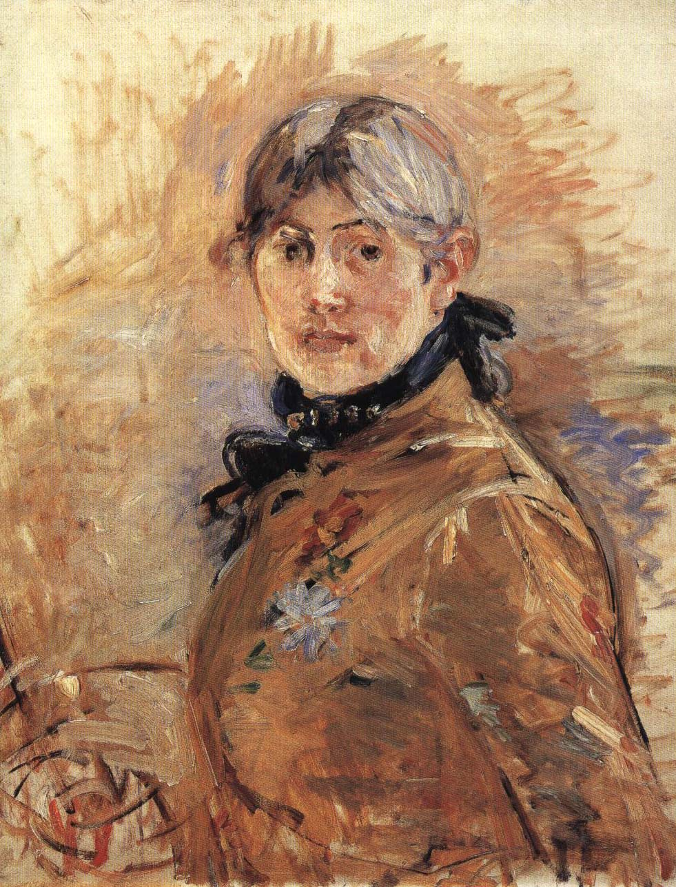 Self Portrait | Berthe Morisot 1885 | Oil Painting