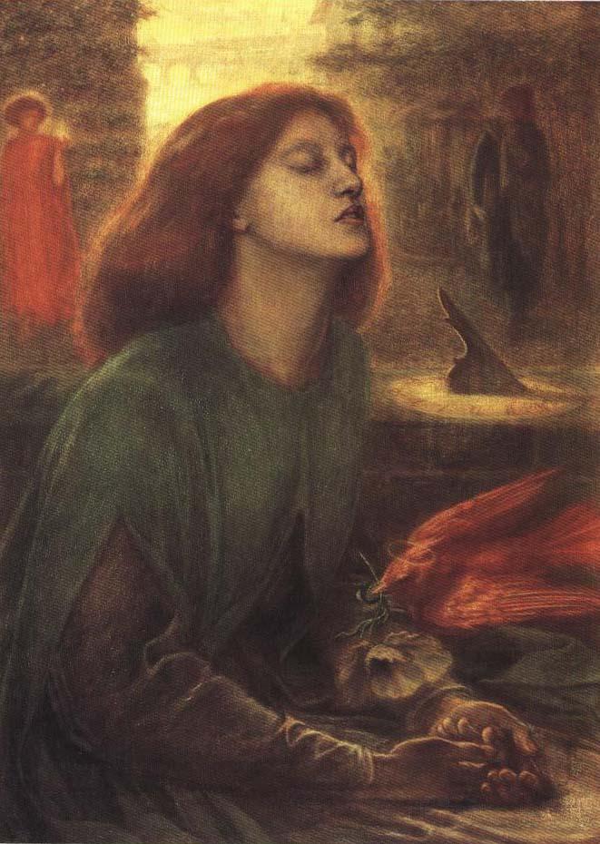 Beata Beatrix | Dante Gabriel Rossetti 1864-1870 | Oil Painting