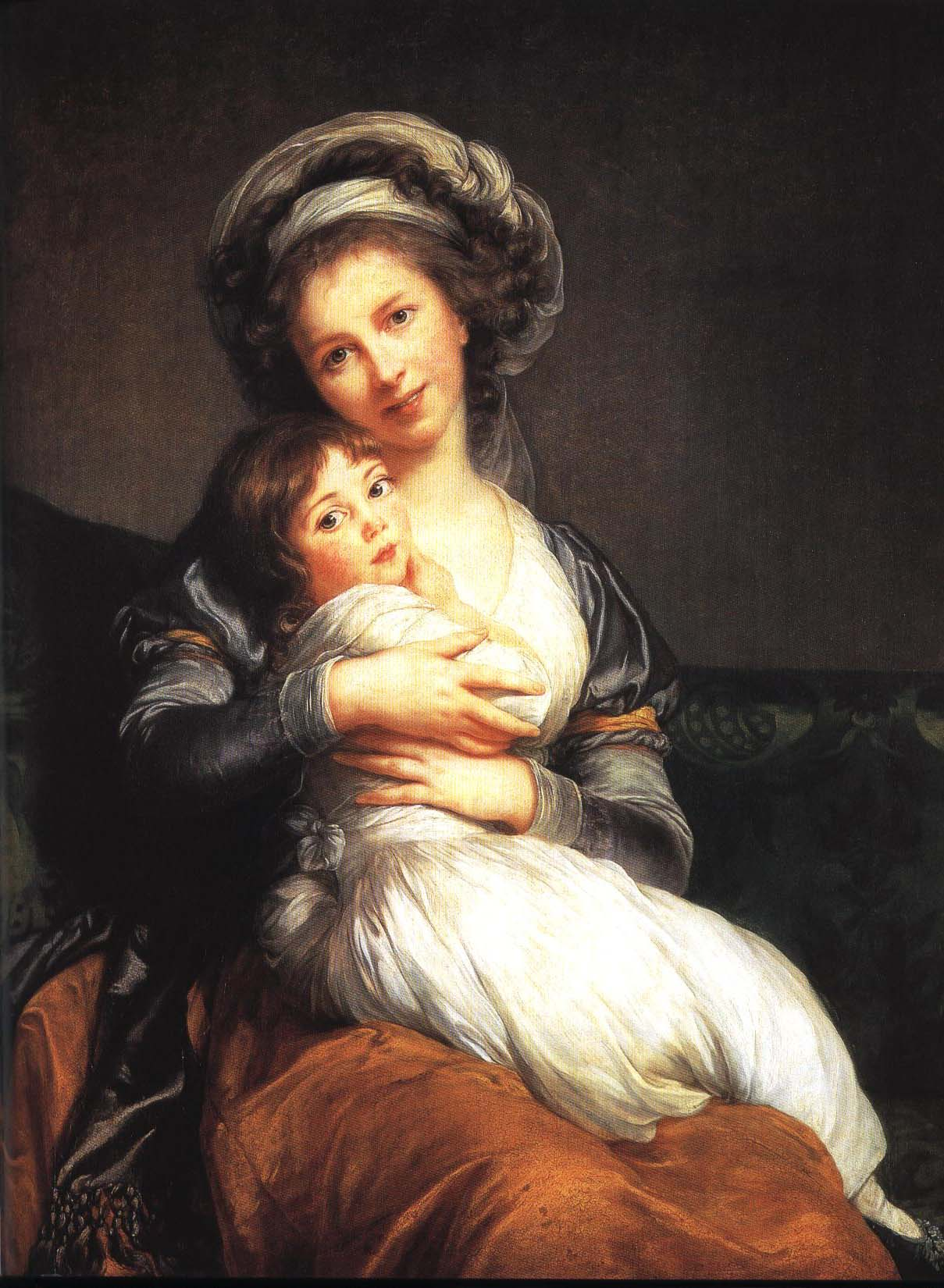 Self Portrait with Her Daughter   Elisabeth Vigee-Lebrun 1786   Oil Painting