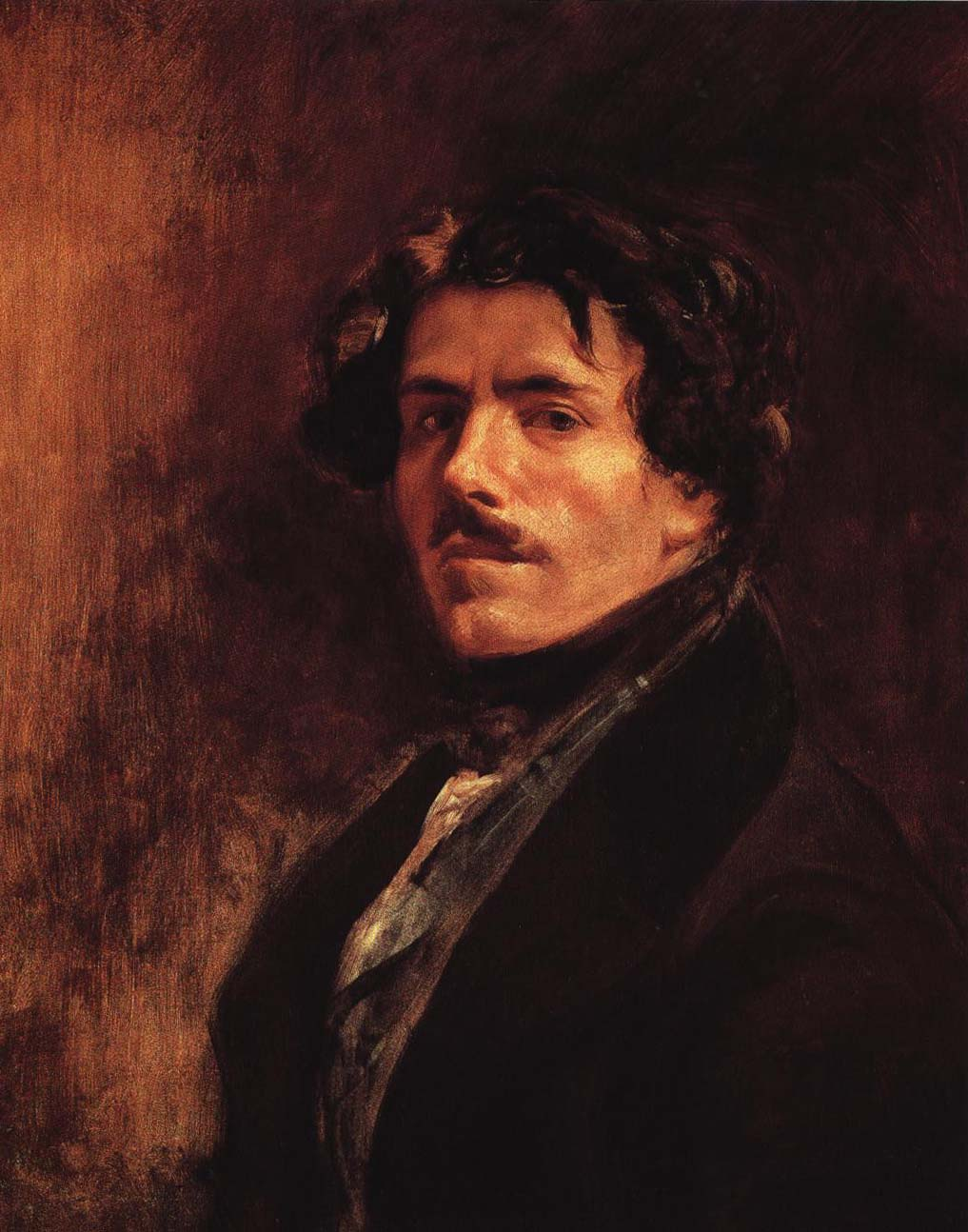 Self Portrait | Eugene Delacroix 1840 | Oil Painting