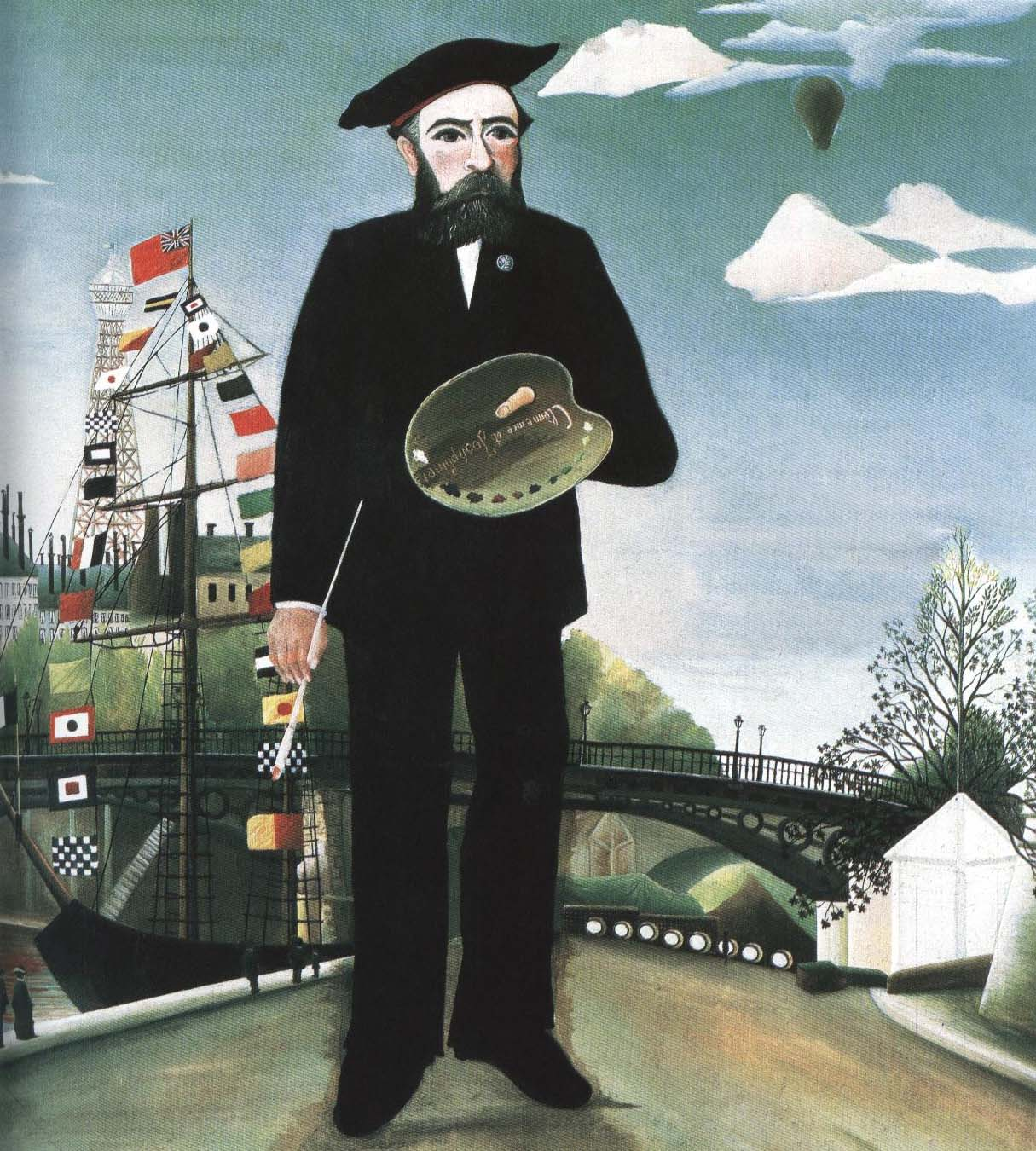 Myself Portrait-Landscape | Henri Rousseau 1890 | Oil Painting