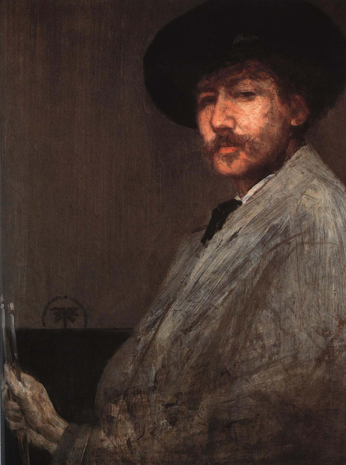 Arrangement in Gray Portrait of the Painter | James Abbott McNeill Whistler 1872 | Oil Painting