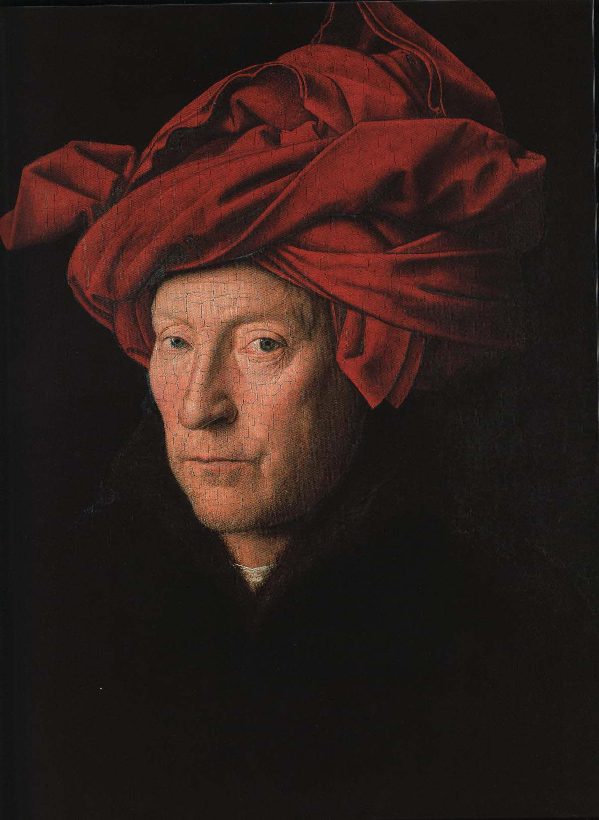 Portrait of a Man (Man in a Red Turban) | Jan Van Eyck 1433 | Oil Painting