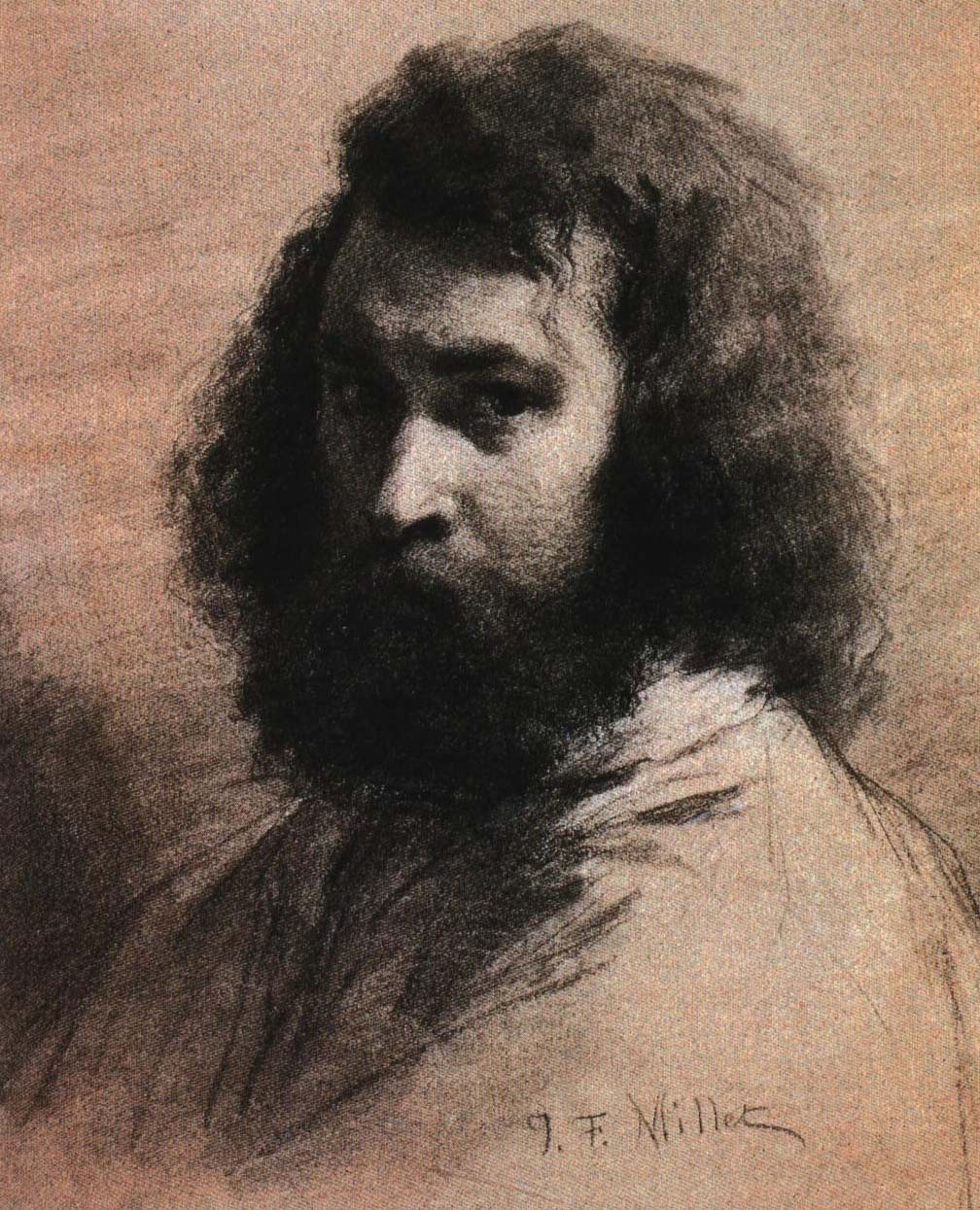 Self Portrait | Jean-Francois Millet 1845 | Oil Painting